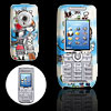 Sky Blue Cute Lovers Pattern Plastic Mobile Cell Phone Hard Case Cover for Sony Ericsson K700