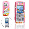 Pink Cartoon Bear Pattern Plastic Mobile Cell Phone Hard Case Cover for Sony Ericsson K700