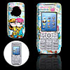 Cute Lovers Pattern Blue Plastic Mobile Cell Phone Hard Case Cover for Sony Ericsson K700