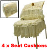 Luxury Embroidered Flower Lace Chair Back Covers and Seat Cushion...