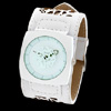 Ladies White Quartz Watch with Wide Band