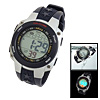Water Resistant Plastic Watchband Electronic Sports Wrist Watch