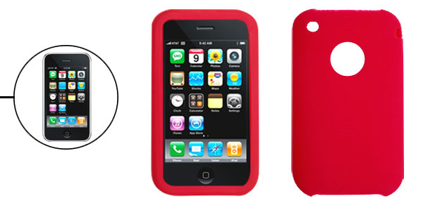 Red Silicone Case for Apple iPhone 3G