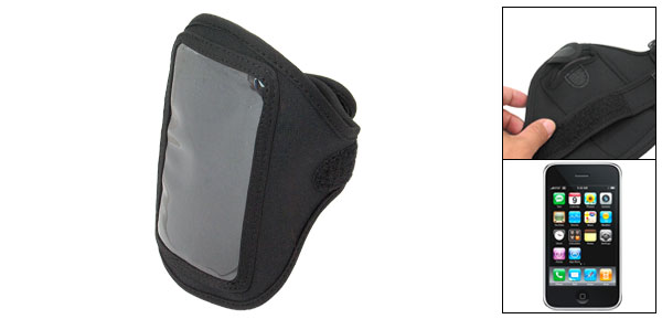 Black Sport Screen Protector Armband Case Holder for Apple iPhone 3G