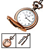 Fashion Jewelry Golf Player Men's Embossed Quartz Pocket Watch