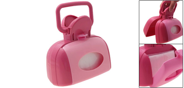 Portable Clip Pickup Pooper Scooper for Pet Dog Cat Pink