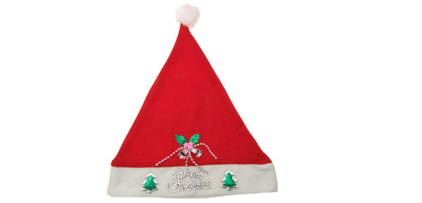 Red Soft Plush X'mas Christmas Santa Claus Hat Costume Cap