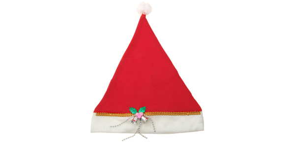 Merry Christmas White Red Soft Plush Christmas Santa Claus Hat