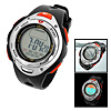 Navy Blue Plastic Round Multifunction Electronic Sports Wrist Watch