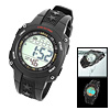 Black Multifunction Sports Watch