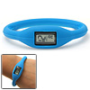 Digital Water Resistant Girl's Blue Slim Silicone Wrist Watch