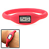 Water Resistant Girl's Red Slim Silicone Digital Wrist Watch