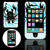 White Hard Plastic Case with Skull Pattern Design for Apple iPhone 3G