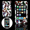 White Hard Plastic Case with Butterfly Design for Apple iPhone 3G