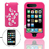 Hard Case for Apple iPhone 3G Pink with White Flowers