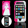 Pink Hard Plastic Case with Beauty Design for Apple iPhone 3G