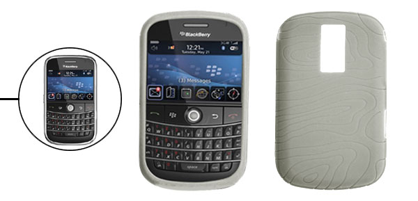 Gray Silicone Case Cover Protector for Blackberry Bold 9000