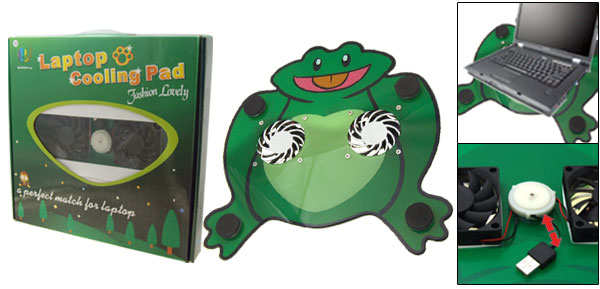 Fat Frog USB Double Fan Laptop Notebook Cooling Pad