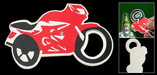 Super Small Red Racing Motorbike Bottle Opener for Beer Lovers
