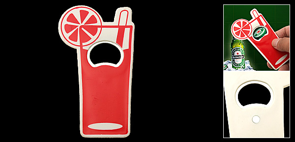 Long Handle Red Beer Beverage Bottle Opener