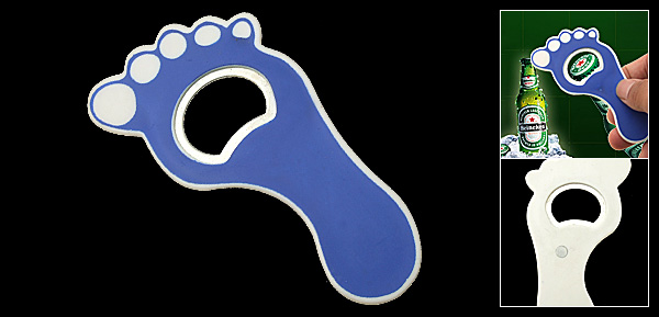Unique Blue Foot Beer Beverage Bottle Opener