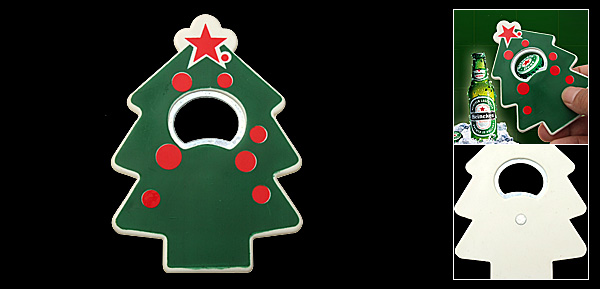 Pocket Size Portable Green Christmas Tree Bottle Opener