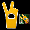 Easy Carrying V Victory Gesture Beer Bottle Opener Yellow