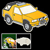 Bottle Cap Car Automobile Metal Bottle Opener Yellow