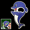 Small Cute Blue Dolphin Bottle Opener