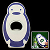 Mini Portable Cartoon Penguin Beer Beverage Bottle Opener White and Blue