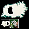 Cartoon Fat Pig Piggy Beer Beverage Bottle Opener White and Green...