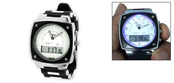 LED Indicator 2 in 1 Digital Multifunction Sports Wristwatch for Sports Lover