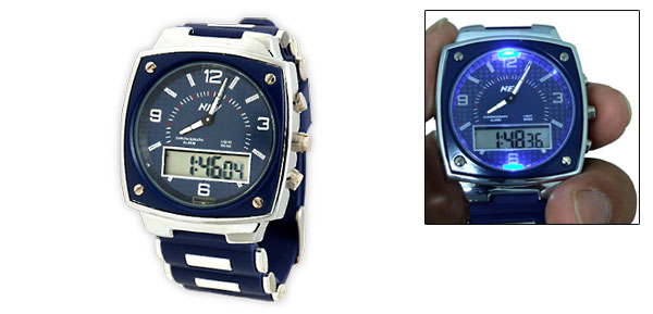 Digital Multifunction Stopwatch Sports Quartz Watch with LED Light