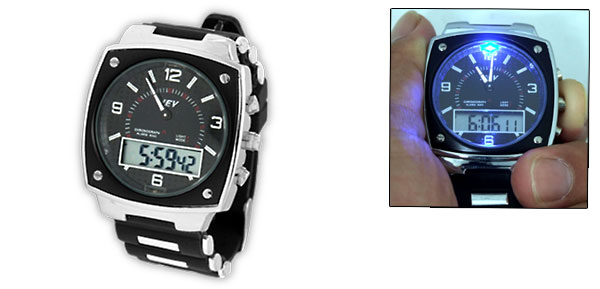 LED Indicator Digital Multifunction Stopwatch Sports Wristwatch for Sports Lover