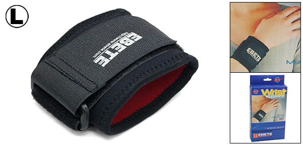 Neoprene Pull-on Sports Velcro Fastening Large Wrist Support Protector