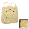 Flowers Elegance Straw Backpack Bag Knapsack for Lady