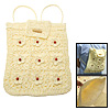 Unique Flowers Straw Knit Backpack Bag Knapsack for Lady