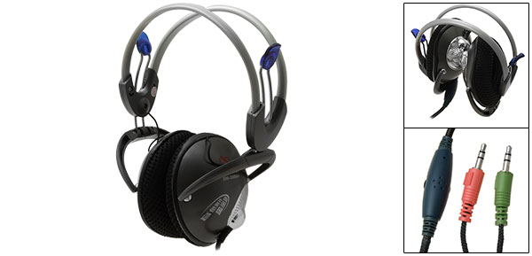 Desktop Laptop Headphone Headset Mic Microphone 3.5mm