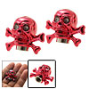 2 PCS Skull Car Wheel Tyre Stem Valve Dust Caps Covers Red