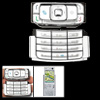 Silvery Replacement Keypad Keyboard Button for Nokia N95