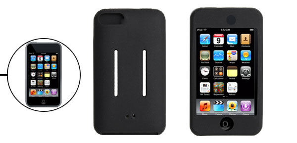 Black Silicone Skin Back Case for iPod Touch iTouch 2G 2nd Generation