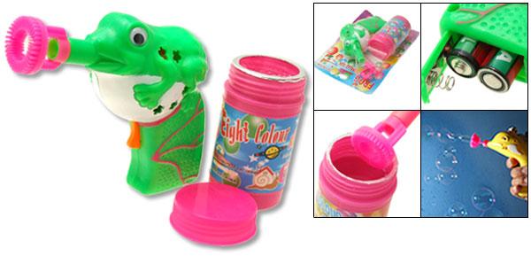 Big Cute Tripe Frog Soap Bubble Gun hubble-bubble Toy for Kids