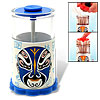 Chinese Opera Mask Automatic Toothpick Holder Blue