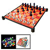 8 in 1 Family Game Checkers International Chess Combination Set