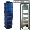 Hanging 6 Shelves Sweater Clothing Storage Closet Organizer