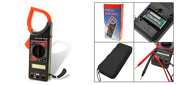 Portable Digital LCD Clamp On Meter AMP Test Tester