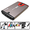 "Portable OTG USB 2.5"" SATA HDD Media Player External Enclosure"