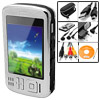 EU Plug 100-240V AC LCD Screen USB Photo Bank Hard Disk MP4 Player 3.6""