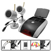 EU Plug 100-240V Two IR Wireless Camera + Security Surveillance System Receiver