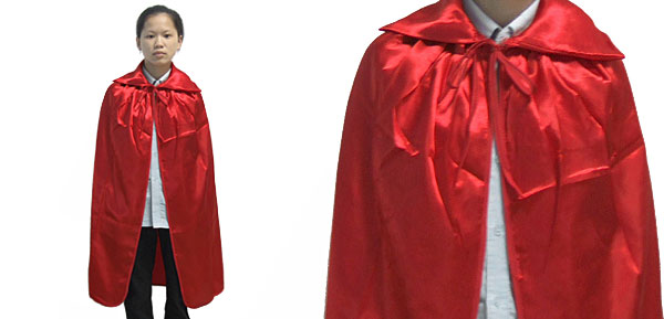 Girls' Red Halloween Cape Costume